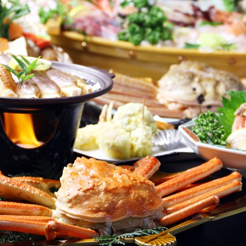 日本海の「美味い!」をテーブルに全部広げて楽しみましょう♪【舟盛付き】