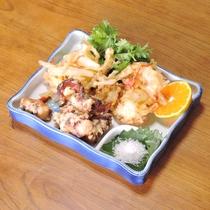 *【お料理一例】サクッと香ばしいタコの天ぷら