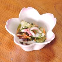 *【お料理一例】タコ入りの酢の物