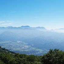 高山植物園からの景色
