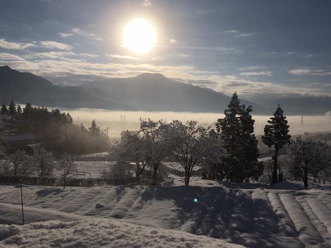 眺望 冬の朝