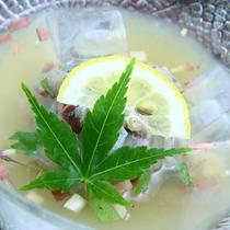 夏の期間限定!鯵の水なます★料理の一例