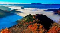 小入谷の紅葉と雲海