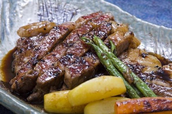 群馬の牛肉【上州牛ステーキ付】熱々・できたての200gステーキをオリジナルソースで堪能ください