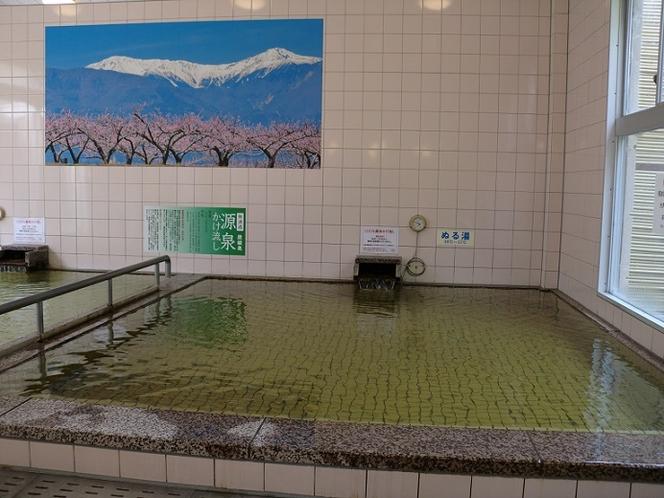 女湯低温浴槽(加温無し)