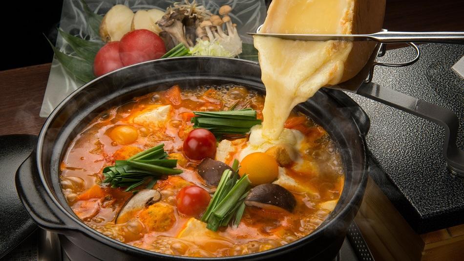 比羅夫坂 トマト&ラクレットチーズ鍋