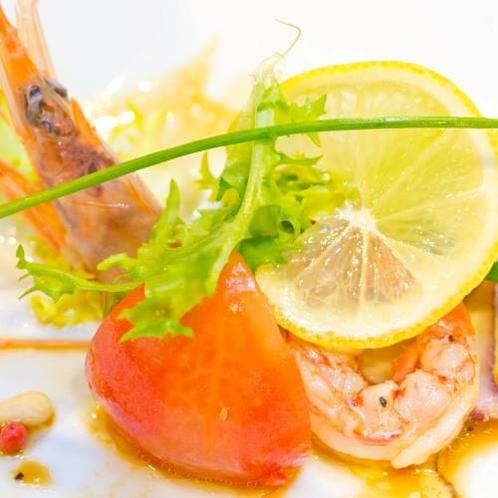 【ご夕食】洋皿(一例)※季節で変ります。