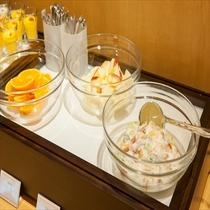 ■朝食:デザートコーナー(感染症対策の為小鉢にて提供)