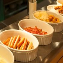 ◆朝食 温物料理1(感染症対策の為小鉢にて提供)