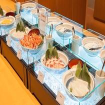 ◆朝食 漁師丼(感染症対策の為小鉢にて提供)
