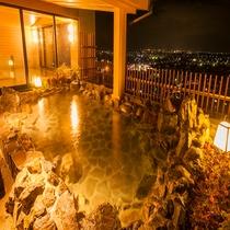 女性大浴場 露天風呂 夜