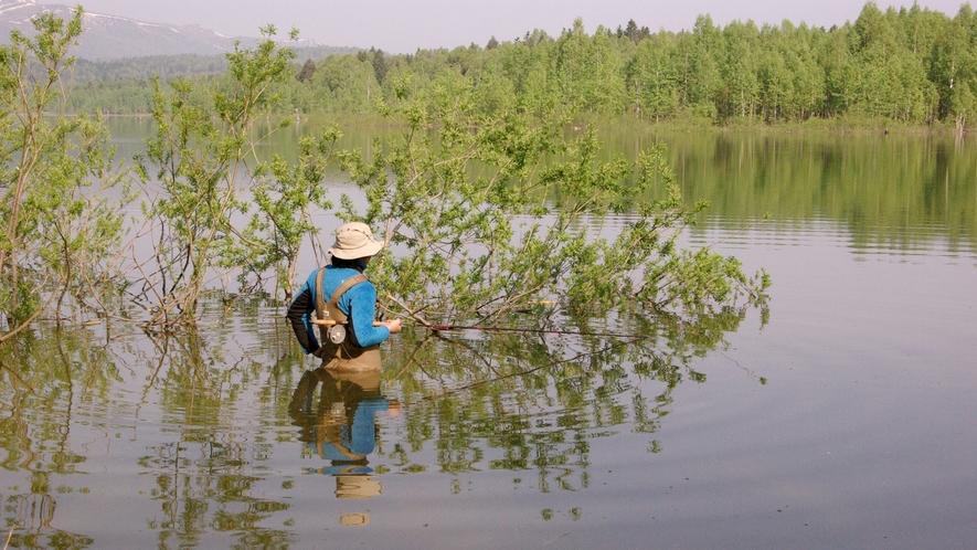*【周辺】幻の魚「魚鬼(イトウ)」が棲むことでも知られ、知る人ぞ知る人気の釣りのスポットです。