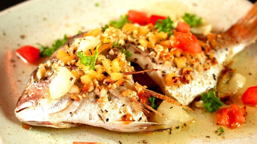 鯛のオリーブオイル焼き
