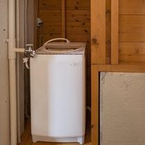 洗濯機をご用意。干場はテラスにございます。