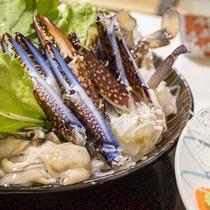 【お料理一例】ながさき味噌を使ったワタリガニの海鮮鍋です♪