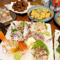 【お料理】じげもんの夕食はこんなに豪華!!