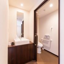和洋室(スタンダード)トイレはバリアフリーでご用意しております♪