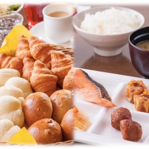 【ご朝食】和洋食の手作りビュッフェをご用意しております♪