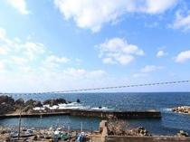 客室から眺める日本海