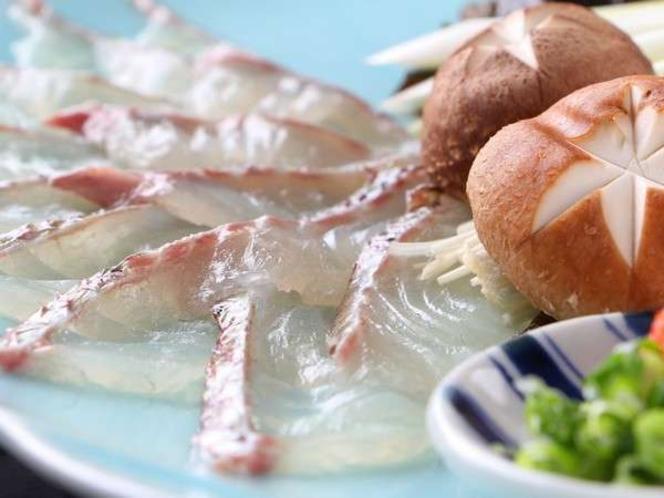 あっさりした味覚があとを引きます!鯛しゃぶも人気です♪