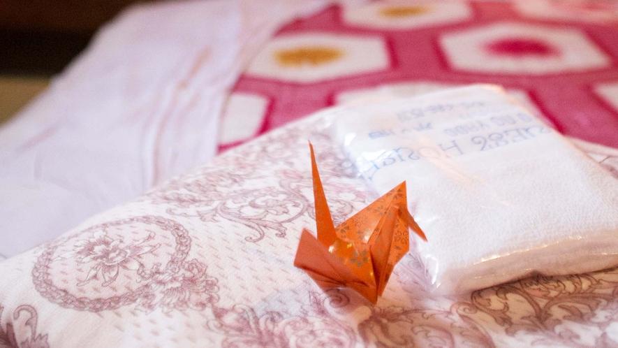 ・【桜】千羽鶴でおもてなし♪