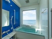 別館の客室展望風呂の例(客室のお風呂は温泉ではございません)