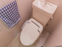 客室のトイレは全室ウォッシュトイレです
