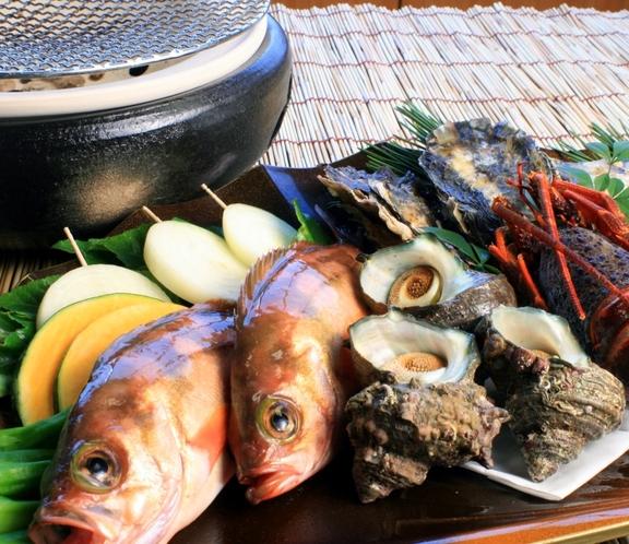 海鮮焼きの食材は日替わり