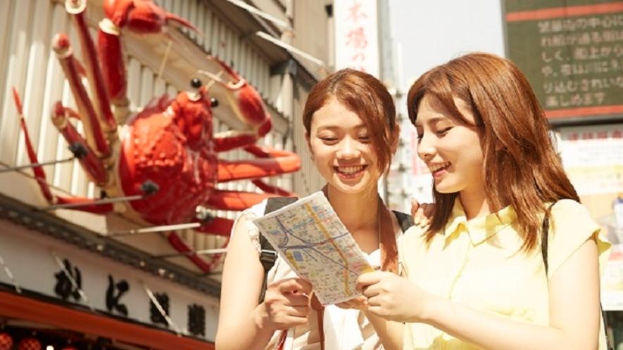 大阪観光におすすめ、最適ロケーション、最大3路線&道頓堀至近徒歩2分