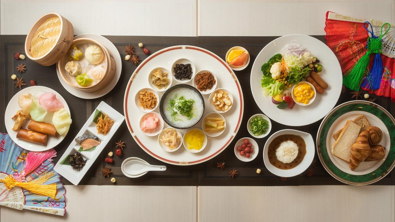【2021年4月朝食リニューアル】中華粥等の中国料理が加わった朝食ビュッフェ。