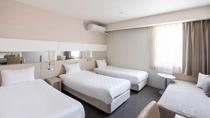 【スーペリアトリプル】ベッド2台+1台のスタッキングベッドで3名まで