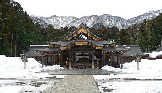 弥彦神社・雪
