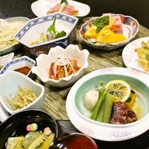 【ご夕食一例】/地場の食材にこだわった料理を食べ山形の食文化を愉しんでください。