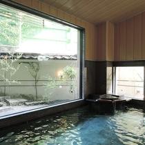 *【大浴場/笑湯】大きな窓が開放的で気持ちいい大浴場(男女入替制)