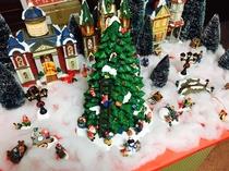 ロビーのクリスマス飾り