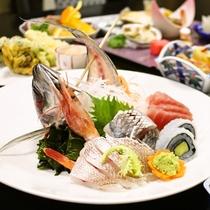 【ご夕食一例】/自然豊かな日本海で穫れた海鮮をご提供致します。