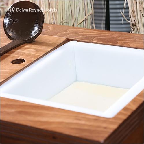 朝食バイキング:自家製 作りたて豆腐