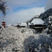 <冬の清水寺>