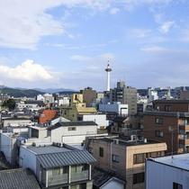 <京都タワー、屋上からの眺望です>