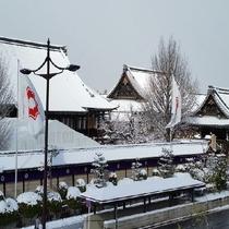 <冬の西本願寺>