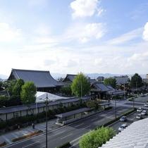 <西本願寺、屋上からの眺望です>