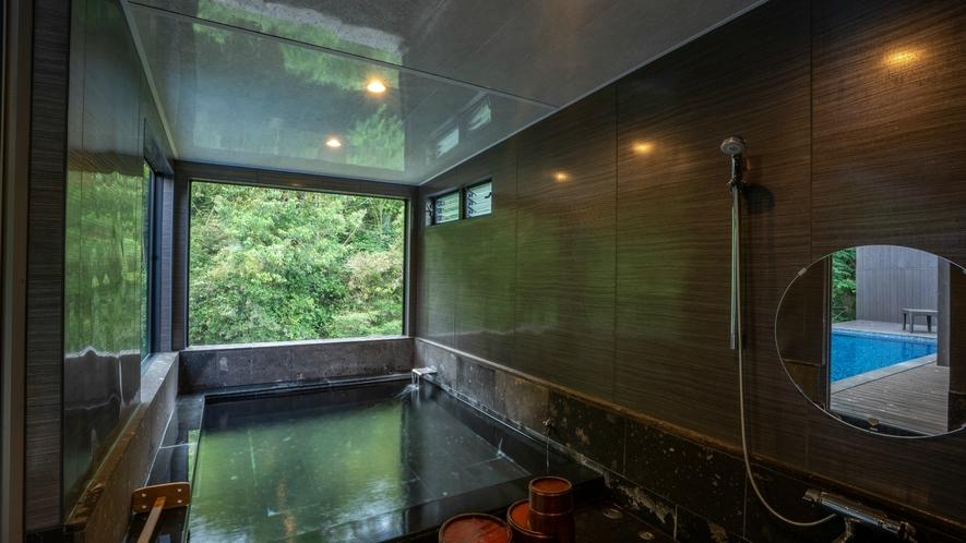 プライベート温泉プール付き川沿いヴィラ【関山 kanzan】宝泉寺温泉を贅沢にかけ流し。