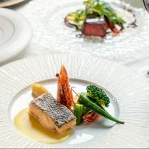 【Dinner一例】コース料理はその季節ごとの旬を味わっていただく為、メニューが変わります。