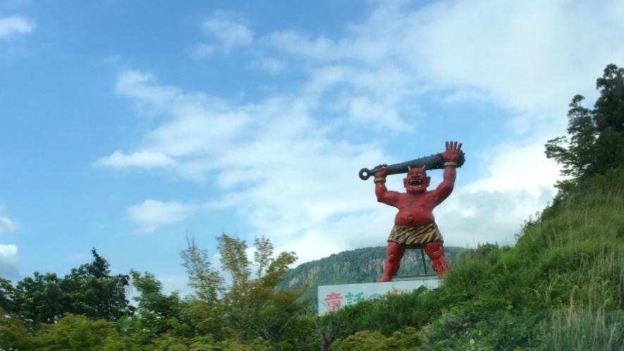 童話の里 玖珠町へようこそ。約7メートルの鬼のオブジェは迫力満点!