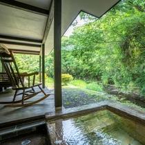 岩露天付 離れ【一葉 ichiyou】24時間源泉かけ流し温泉をお愉しみいただけます。