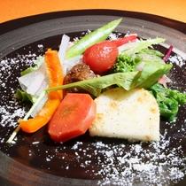 富良野・美瑛の野菜を使った前菜