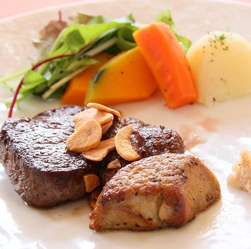 ・・富良野牛ステーキとフォアグラ・・
