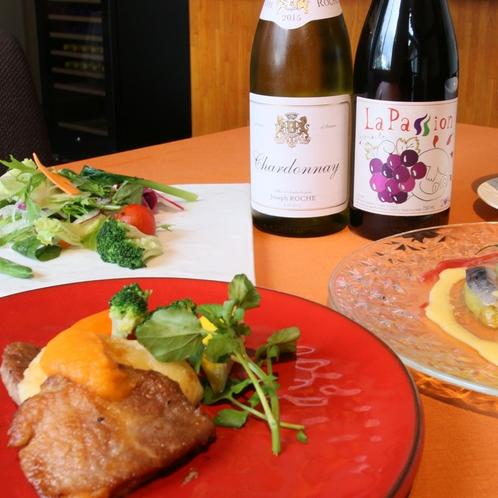富良野ポークとワイン