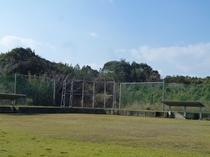 熊本県立大学環境研究センター計測地点の野球広場(大江漁港の近隣)