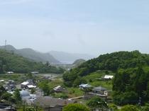 【周辺】大江天主堂から撮影した大江漁港、天草ロザリオ館